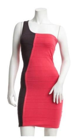 BeBe 2b one shoulder colorblock dress