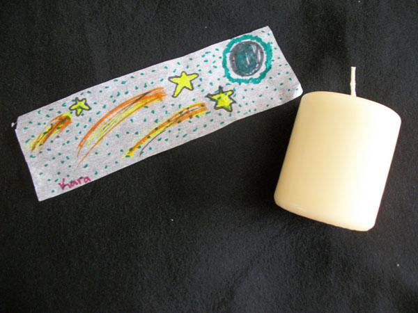 Artwork candle
