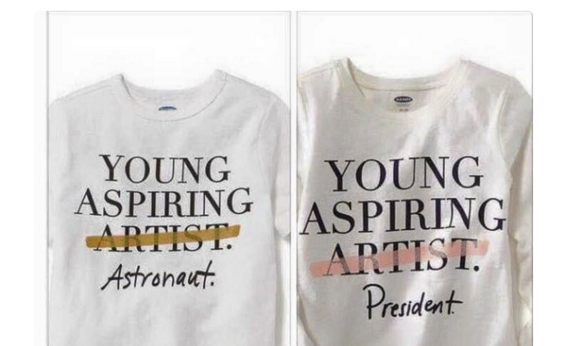 T-shirt telling little girls they can