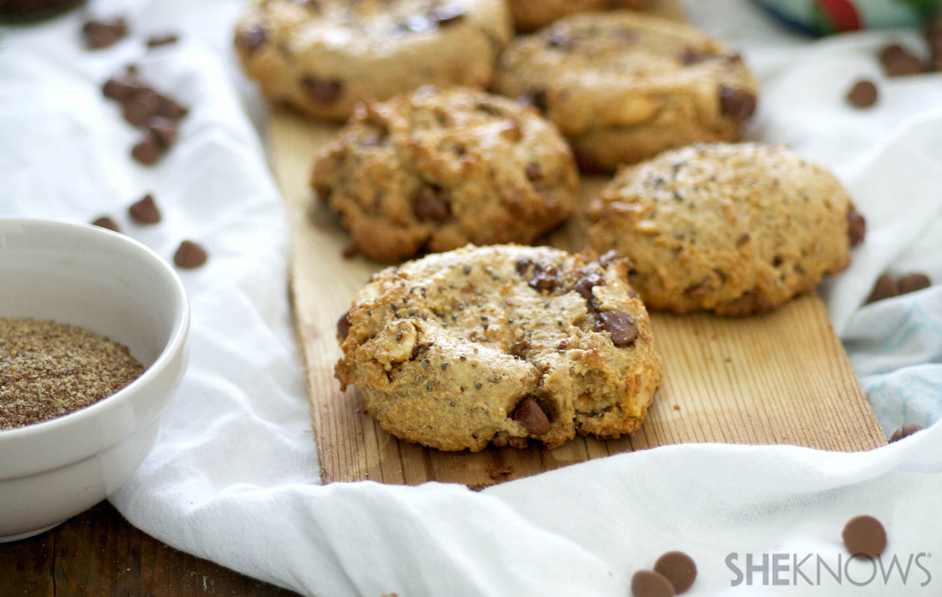 Peanut butter flax & chia seed cookies