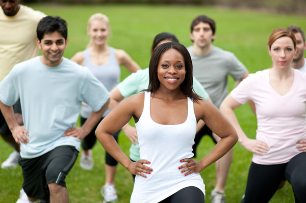 Core fitness class