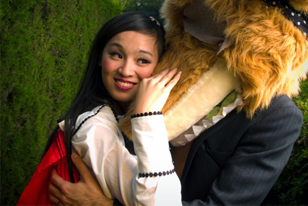 Little red riding and big bad wolf Halloween couple costume