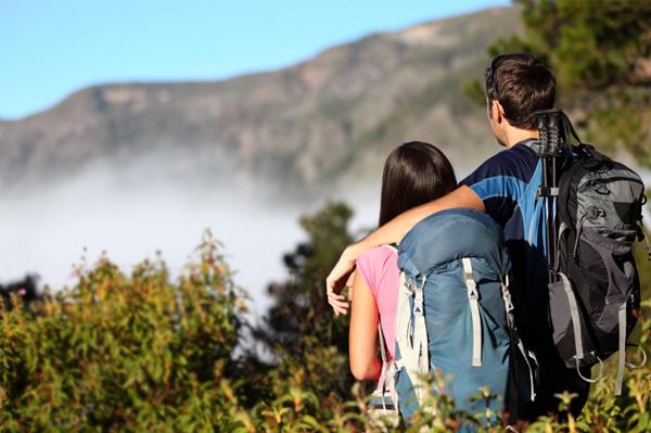 Couple on adventure vacation