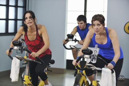 Courteney Cox is not happy on Cougar Town, although she should be -- the show's a hit