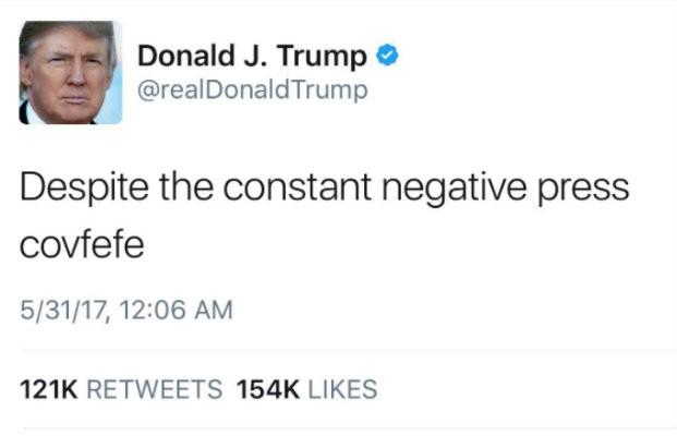 Donald Trump covefefe tweet