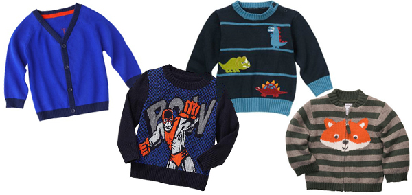 Cozy fall sweaters for baby boys