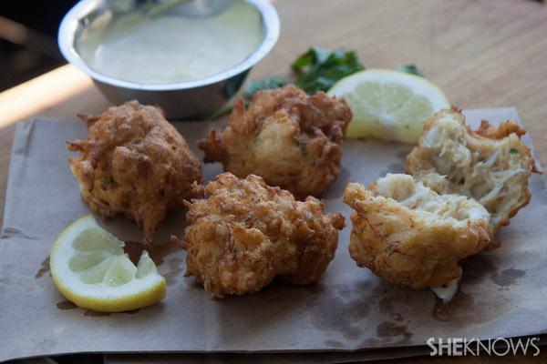 Healthy baked crab rangoon