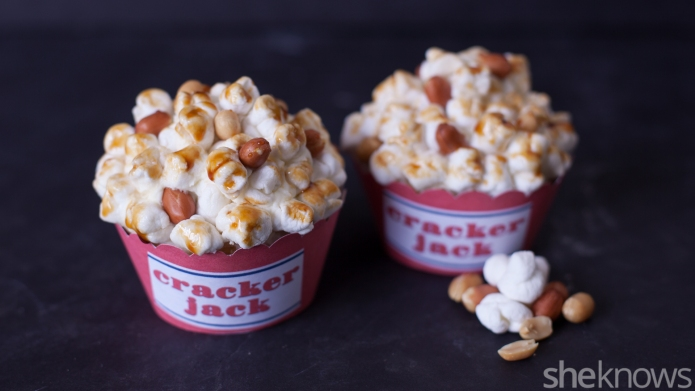 Cracker Jack look-alike cupcakes are a