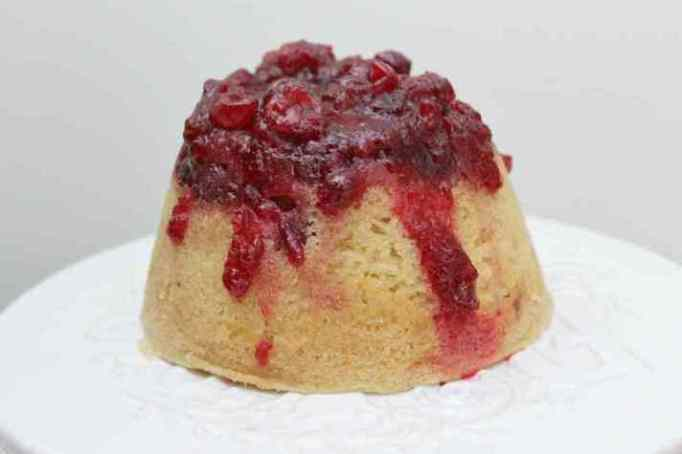 Cranberry and Vanilla Steamed Pudding