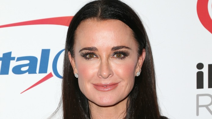 Kyle Richards reacts to Lisa Rinna's