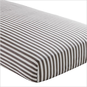Grey striped crib sheet | Sheknows.com