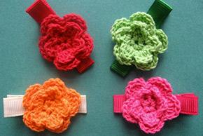 crocheted hair pins