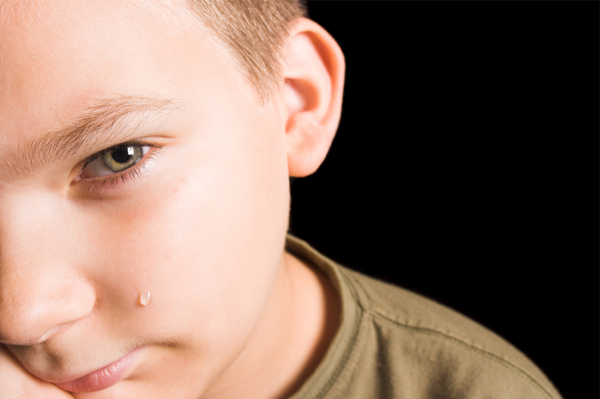 Crying young boy