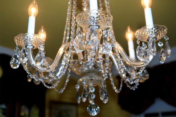 Crystal Chandelier in formal dining room