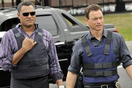 CSI's Fishburne and Sinise mean business on CBS Monday through Wednesday