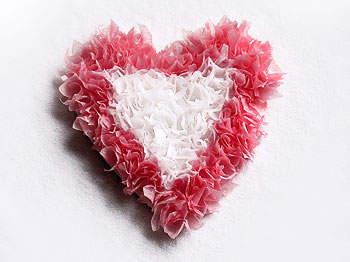 Make a tissue paper heart decoration