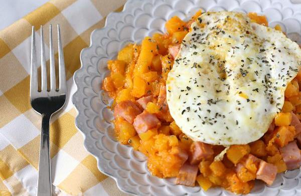 Sweet potato ham hash