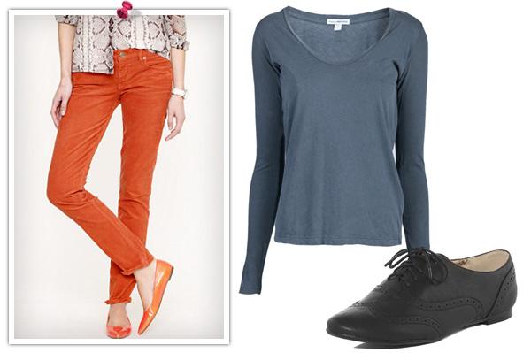 Fall color walk fashion
