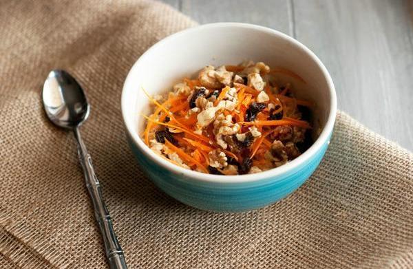 Easy carrot cake oatmeal