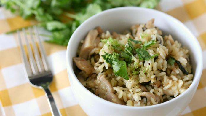 One-skillet cilantro lime chicken dinner