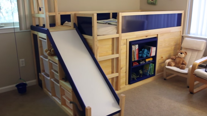 Awesome dad hacks Ikea bed into