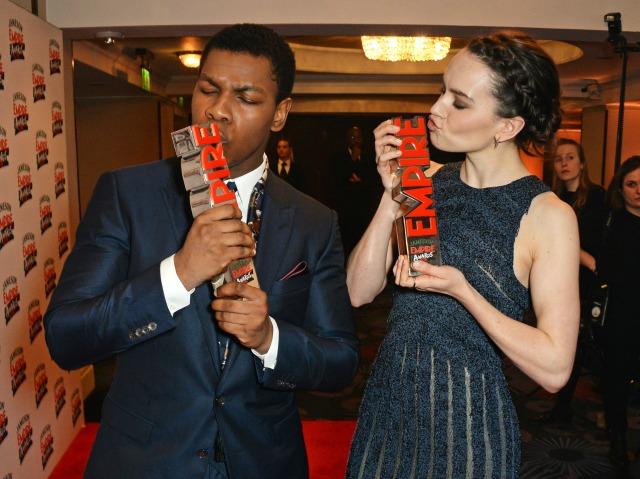 Daisy Ridley and John Boyega win at Empire Awards
