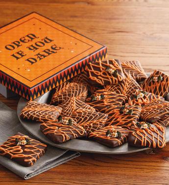 Dark chocolate graham cracker book of spells
