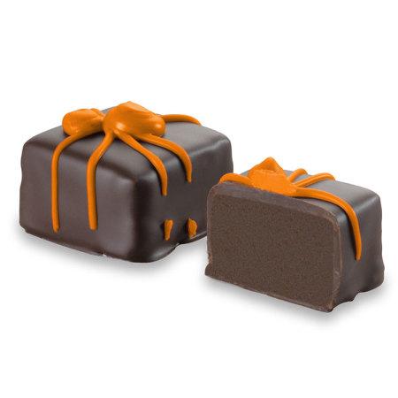 Dark chocolate spider truffles