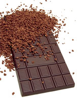 dark chocolate with cocoa power