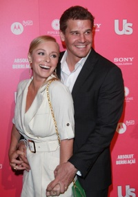 David Boreanaz and wife