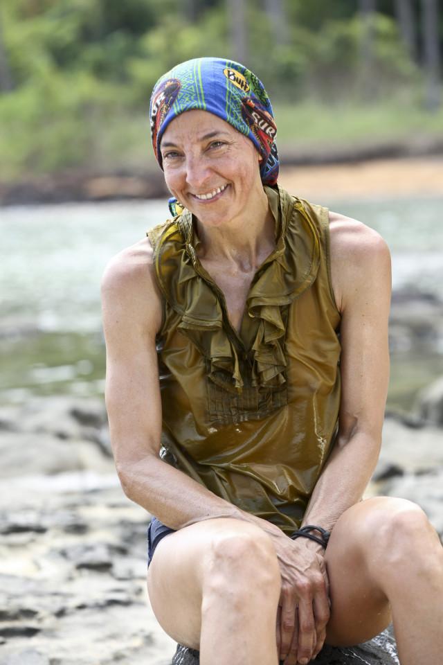 Debbie Wanner at Brains beach on Survivor: Kaoh Rong