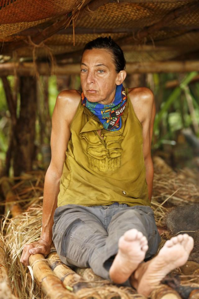 Debbie Wanner in shelter on Survivor: Kaoh Rong