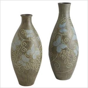 Butterfly floor vases