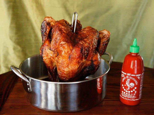 Deep fried sriracha turkey