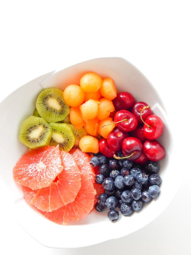 Delicious summer fruit salad