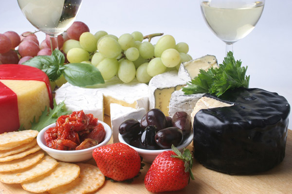 dessert cheese platter