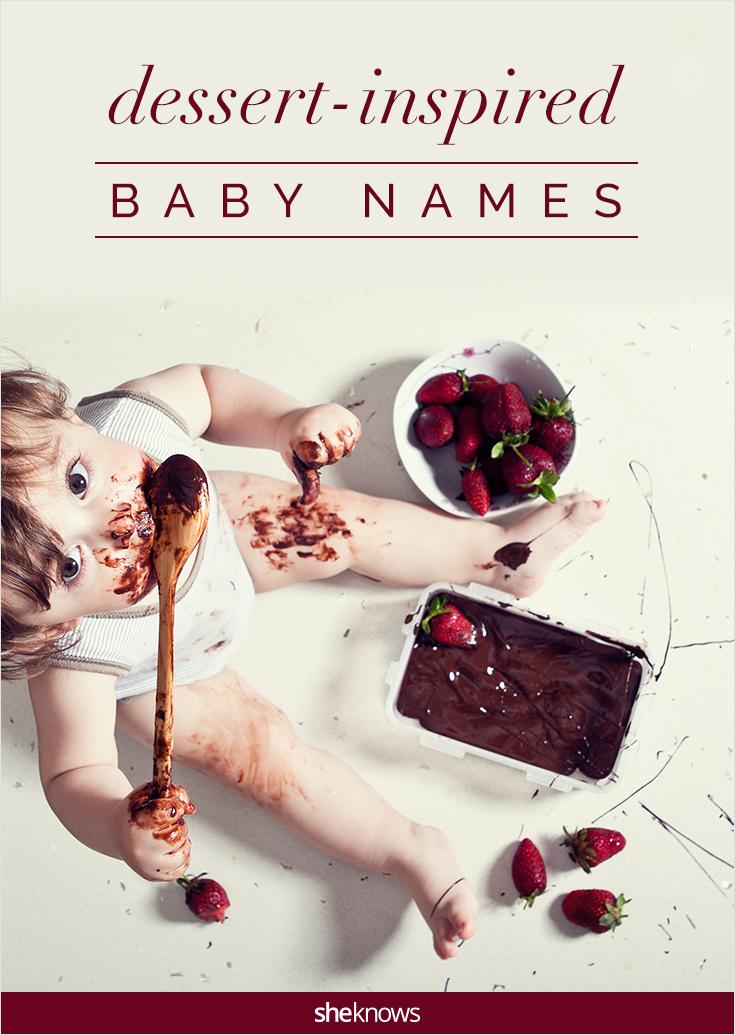 dessert inspired baby names