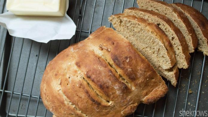 Homemade molasses bread is perfect for
