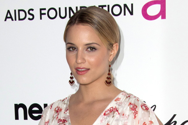 Dianna Agron's makeup at the Elton John AIDS foundation Oscar viewing party