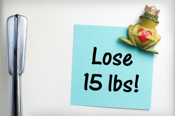 Diet Note on Fridge