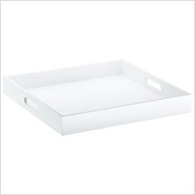 Samba square white tray