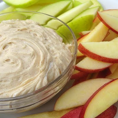Apple with dip