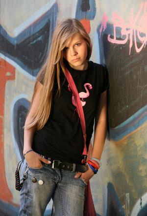 Disgruntled Teen Girl