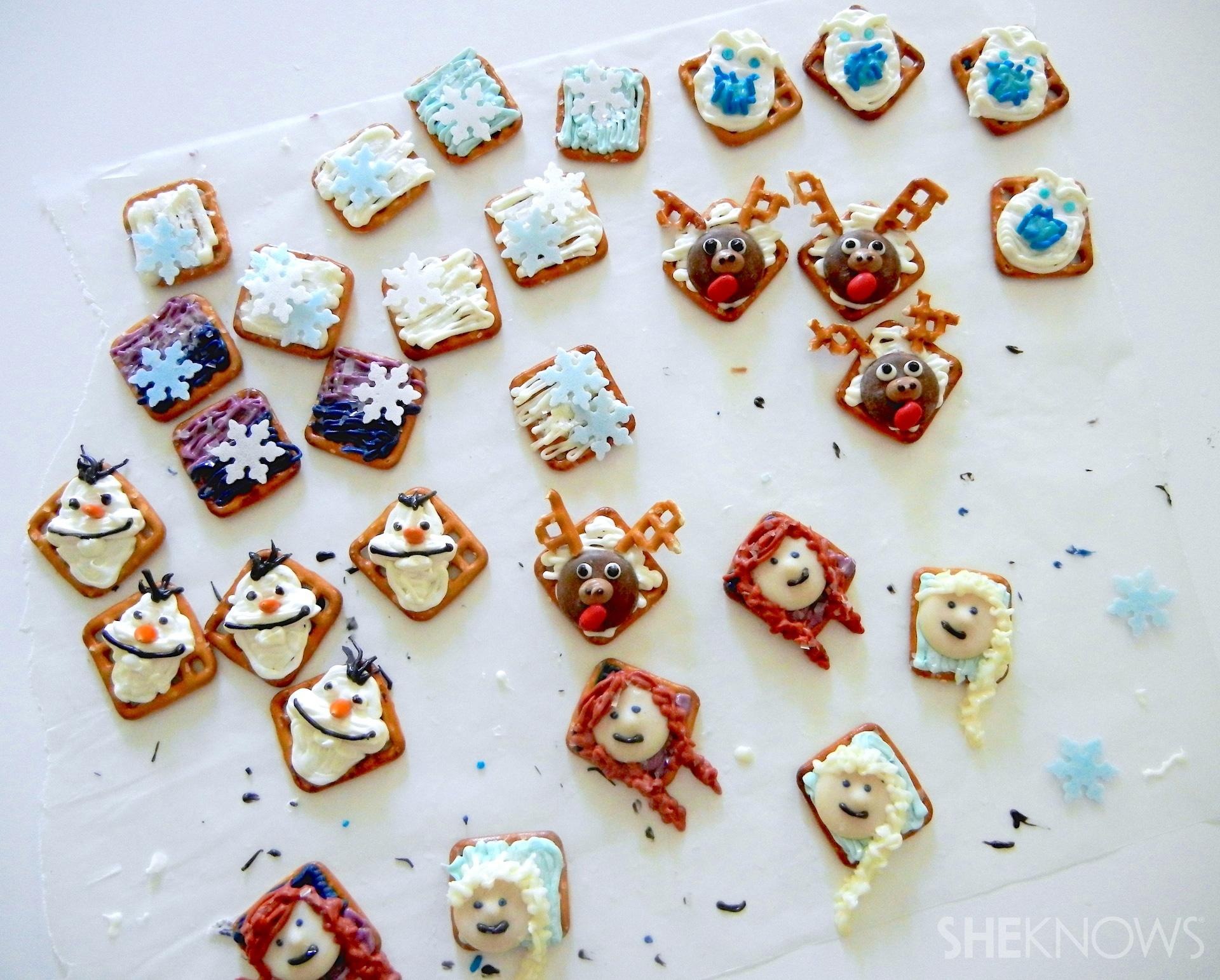 Frozen Inspired Pretzel Snacks