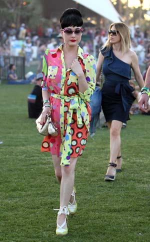 Dita Von Teese at Coachella 2011