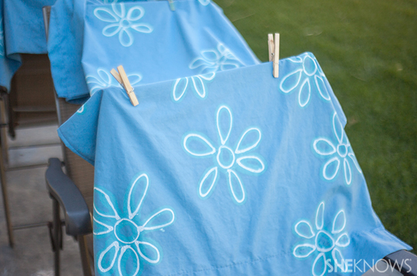 DIY bleach pen curtains – SheKnows