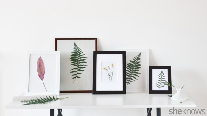 DIY botanical wall decor to bring