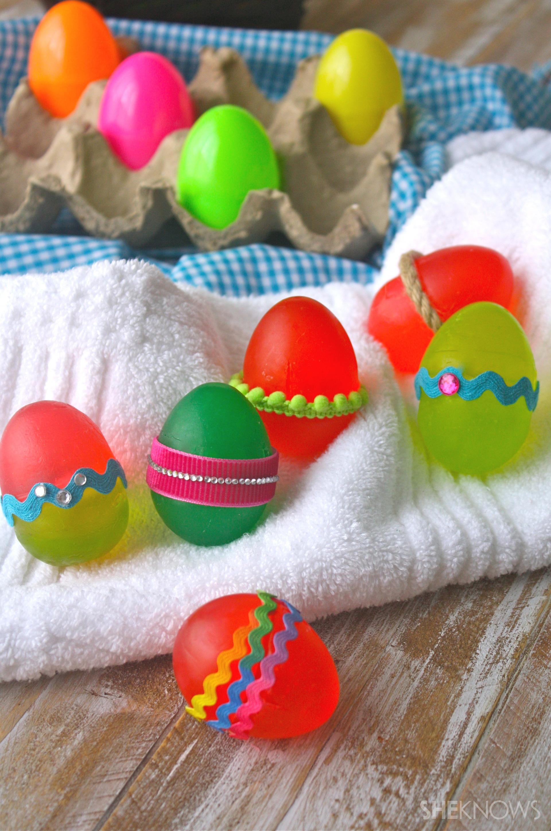 DIY Colorful Easter egg soaps