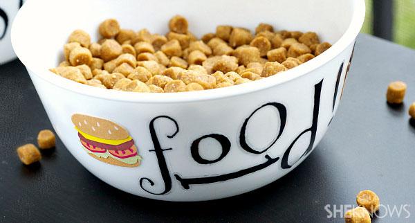 DIY dog food bowl