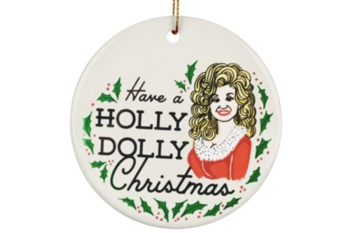 A 'Holly Dolly' Christmas ornament.
